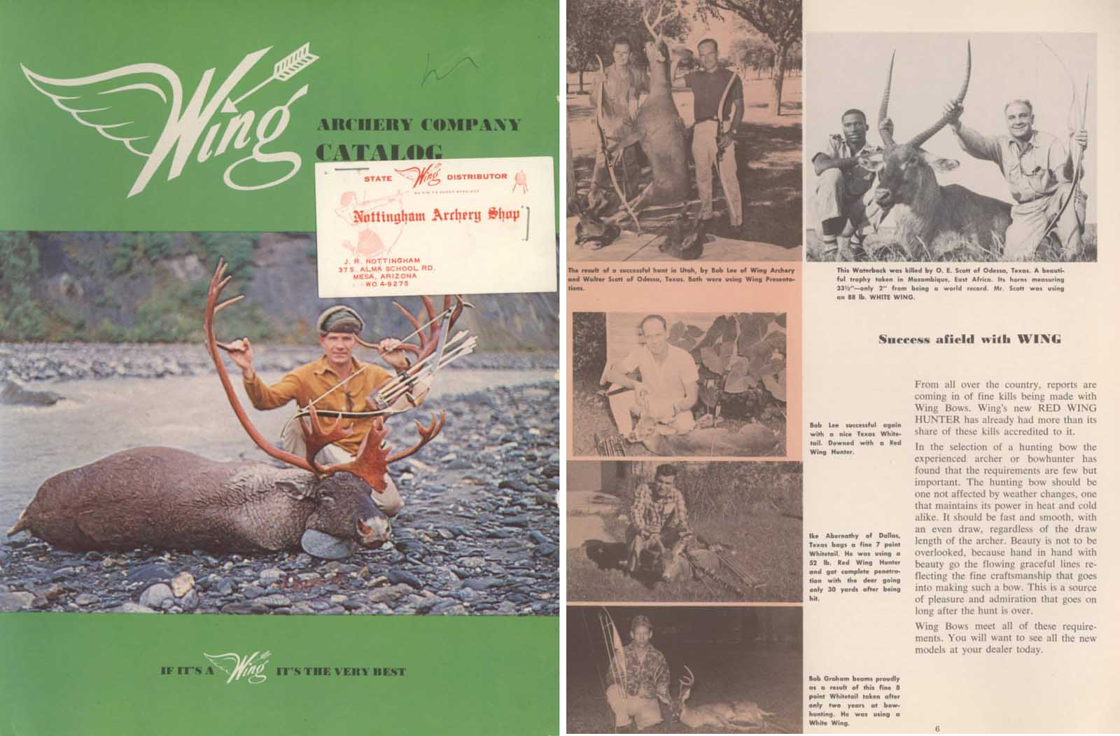 Wing Archery c1962 Catalog