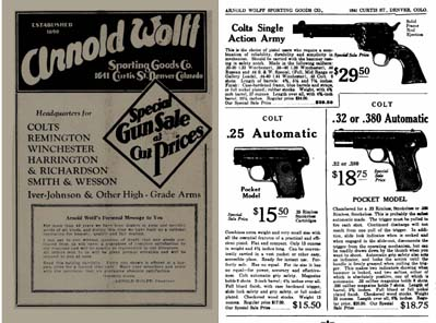 Arnold Wolff 1932 Sporting Goods, Denver, CO