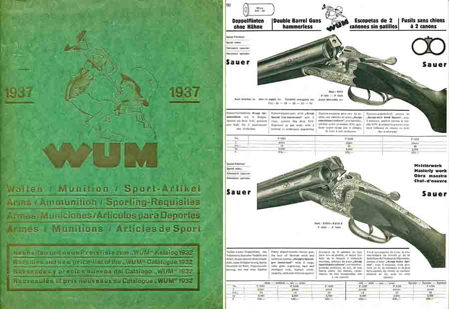 WUM-1937 Pistols,  Airguns, Rifles, Shotguns & Acc, Hamburg, Germany