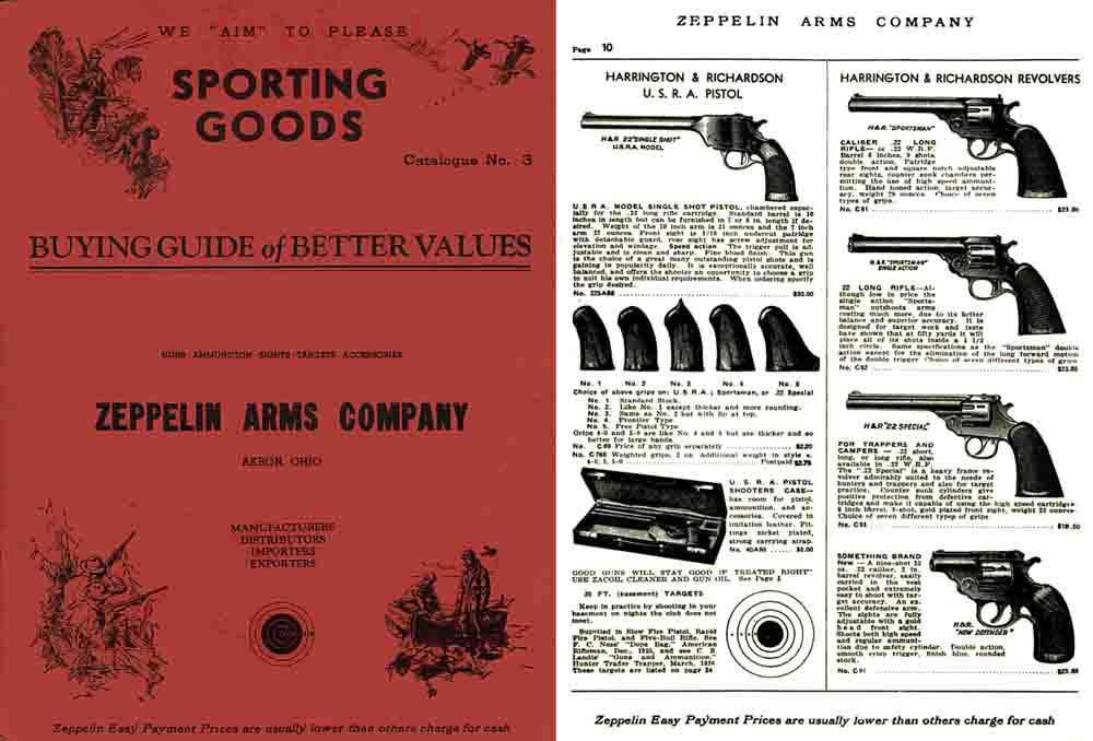 Zeppelin 1937 Arms Company Catalog (Akron, OH)