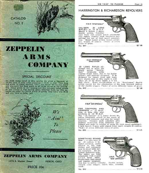 Zeppelin 1936 Arms Company Catalog (Akron, OH)