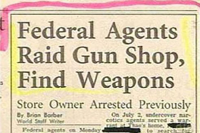 Federal Agents Find Guns in Gun Shop