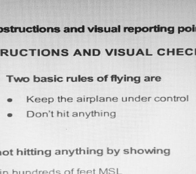 Rules of flying