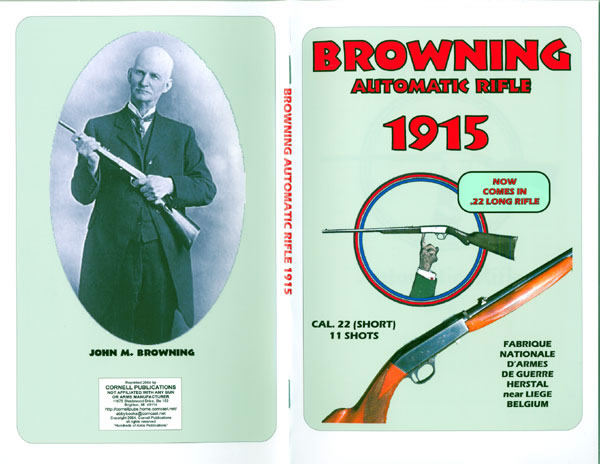 Browning 1915 Automatic .22 Rifle Manual/Catalog