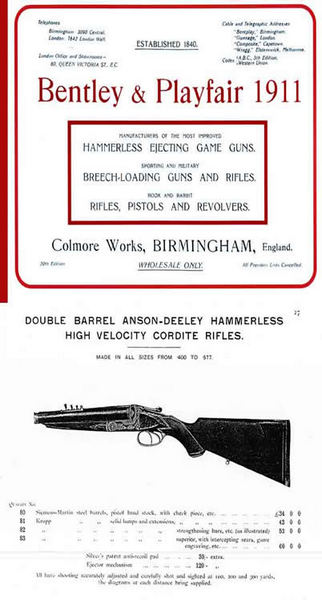 Bentley & Playfair c.1911 Gun Catalogue (UK)