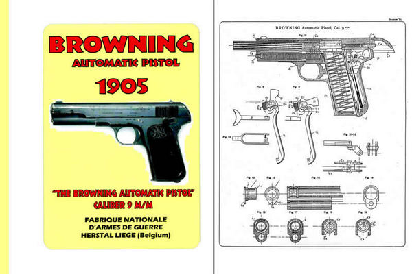 Browning 1905 Automatic Pistol Cal. 9mm Catalog and Manual