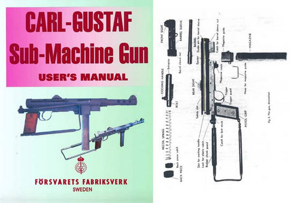 Carl Gustaf Sub-Machine Gun User's Manual (Sweden) c1940