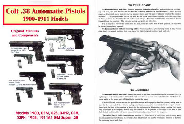 Colt 1900-11 - .38 Auto Pistols Models Manual Reprints