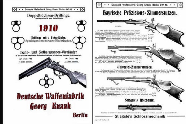 Deutsche Waffenfabrik, Georg Knaak 1910 Gun Catalog