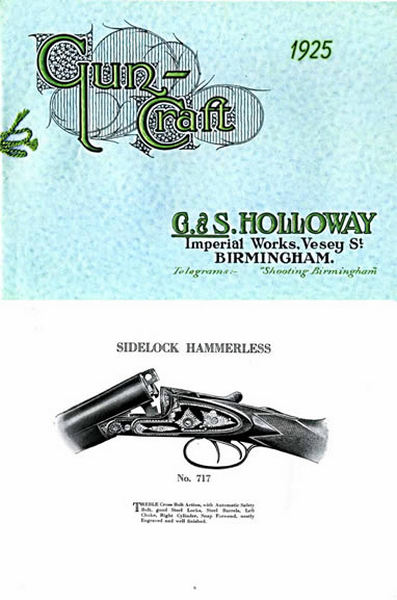 G & S Holloway 1925 Imperial Gun & Rifle Works Catalog