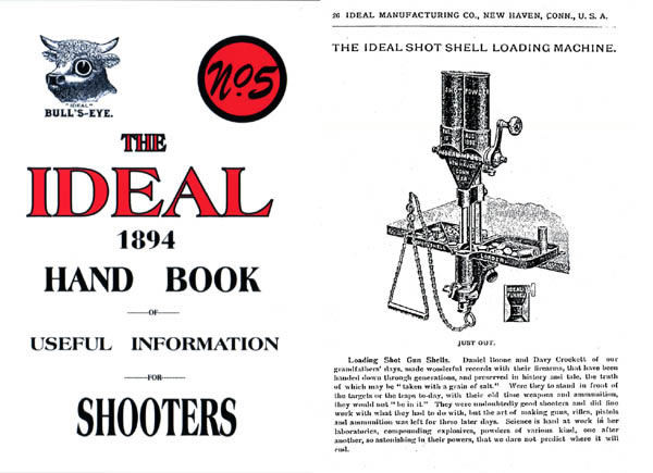 Ideal 1894 (circa) Mfg. Co. Handbook of Useful Information No. 5