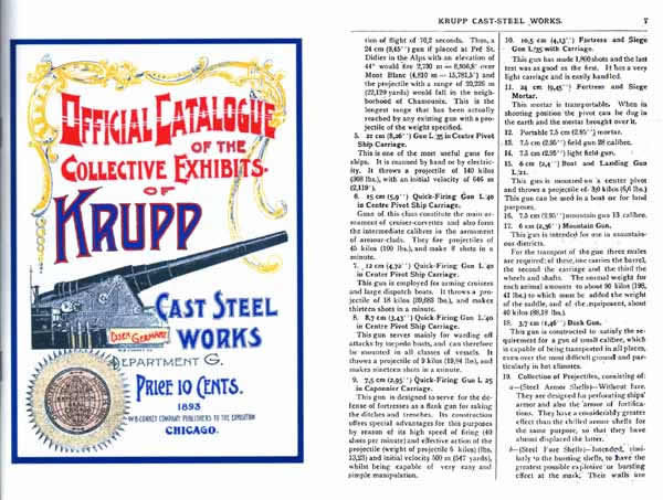 Exhibits of the Krupp Steel Works 1893