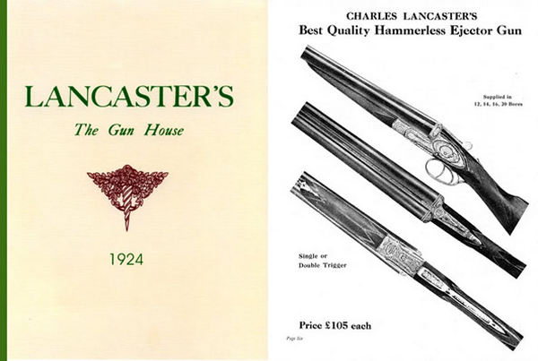 Charles Lancaster's The Gun House 1924 Catalog