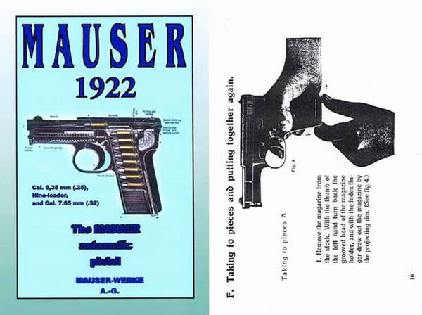 Mauser 1922 Automatic Pistol Catalog- Manual