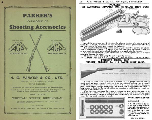 Parker 1928, A.G. & Co. List 11 Shooting Accessories