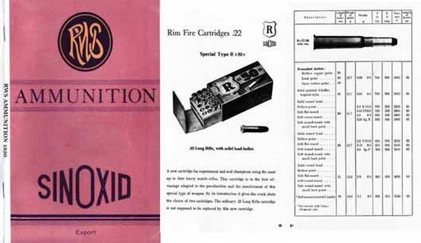 RWS Ammo c1939 (in English) Rheinisch-Westfalische Sprengstoff