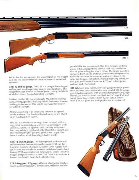 Cornell Publications -Savage 1975 Arms Gun Catalog