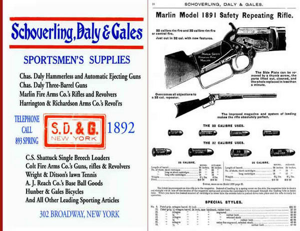 Schoverling, Daly & Gales 1892 Firearms and Sport Goods Catalog