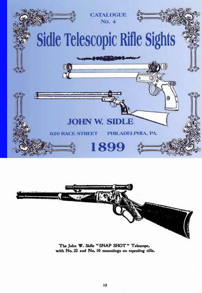 Sidle Telescopic Rifle Sights 1899 Catalog