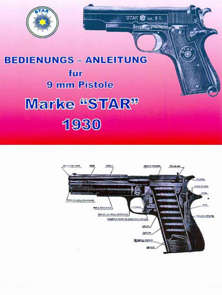 Star Pistol 1930 Catalog/Manual