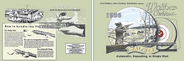 Walther Carbine Model 1 & 2 1936 Catalog/Manual
