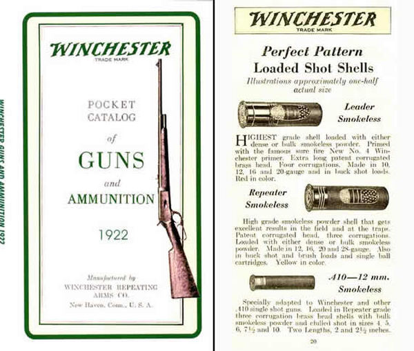 Winchester 1922 Catalog of Guns and Ammunition
