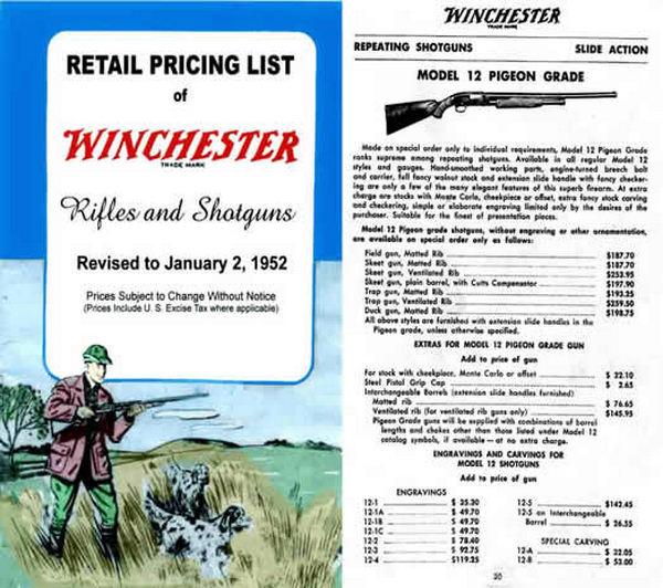 Winchester 1952 Rifles & Shotguns Catalog
