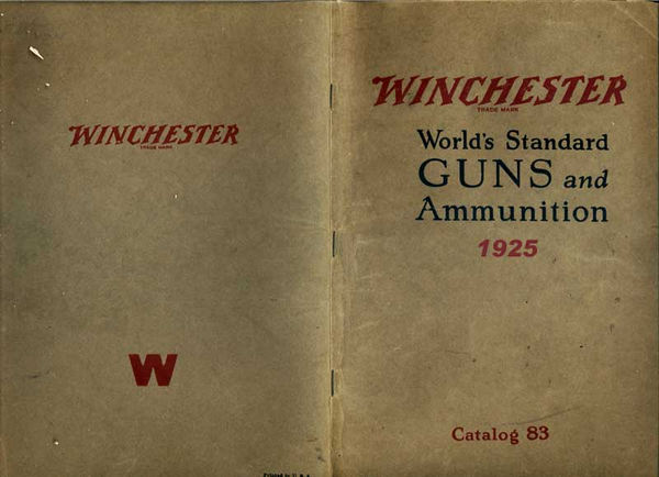 Winchester 1925 Rifles & Shotguns Catalog