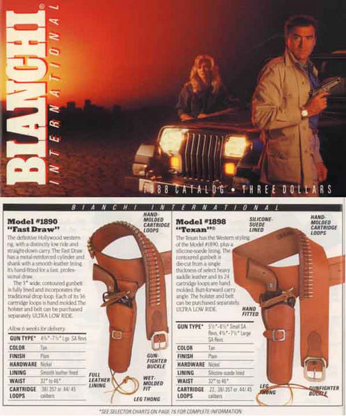 Bianchi International 1988 Holster and Access Catalog