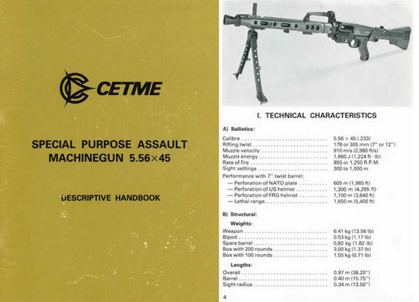 Cetme c1981 Ameli Special Purpose Assault Machinegun Manual
