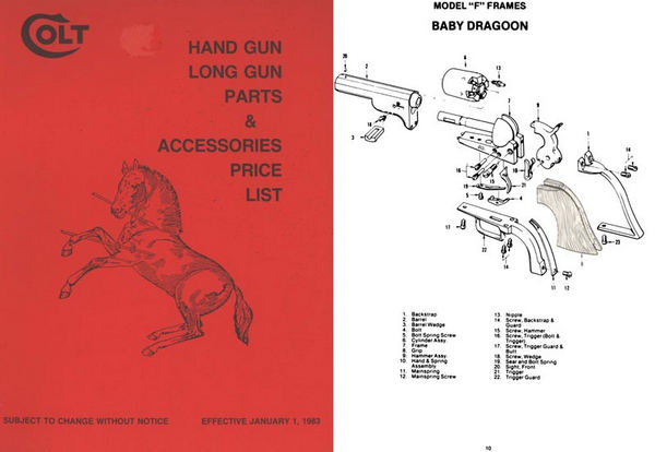 Colt 1983 Parts and Accessories Catalog- Manual