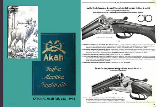 Akah 1953 Waffen Munition Katalog Gun Catalog