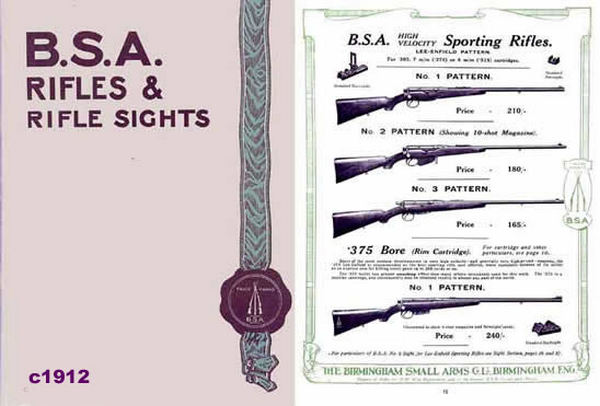 BSA c1912 Rifles and Sights