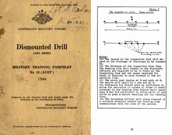 Dismounted Drill of All Small Arms 1944 - Australia- Manual