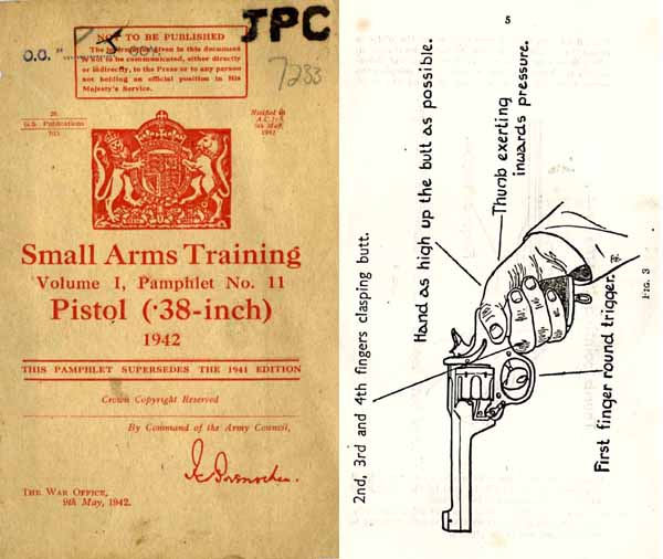 Enfield/Webley .38 Revolver/Pistol 1942 - British Small Arms Training- Manual