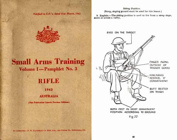 Lee Enfield .303 Rifle - Small Arms Training - Australia 1943- Manual