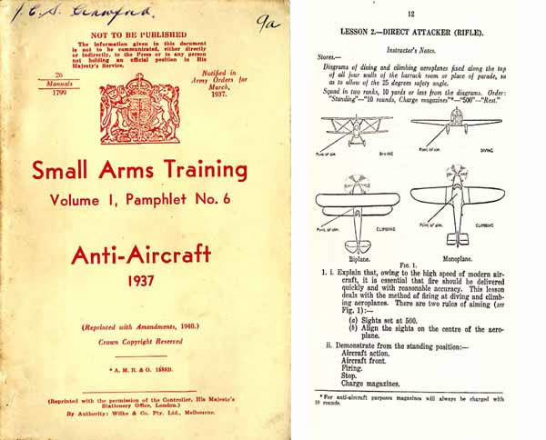 Anti-Aircraft - Small Arms Training - 1937 rev 1940 Manual