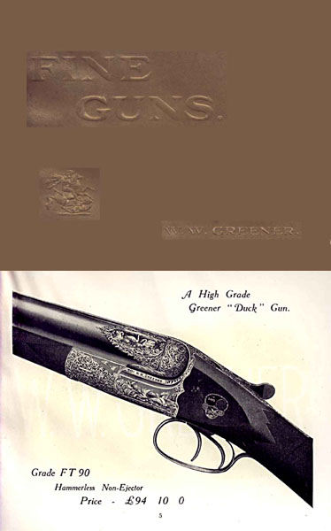 WW Greener 1917 List #37 Guns Catalog (England)