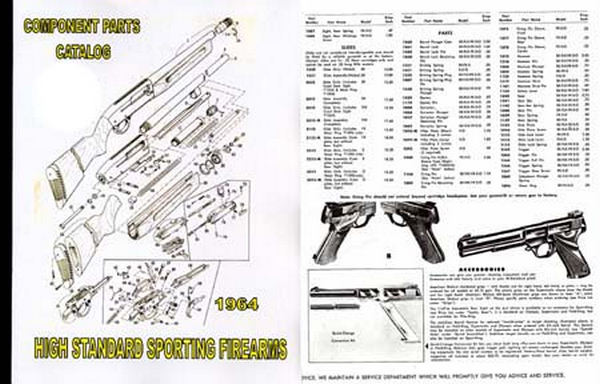 Cornell Publications -High Standard 1964 Gun Parts Catalog on