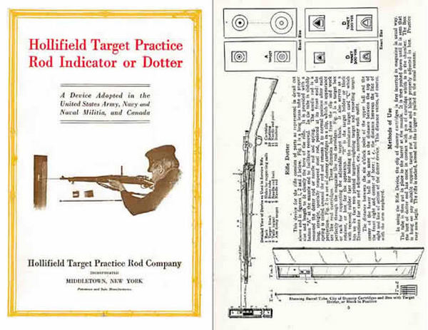 Hollifield Target Practice Rod Indicator or Dotter 1915 Gun Catalog
