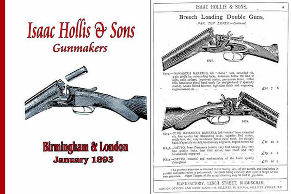 Isaac Hollis & Sons 1893 Gun Catalog (UK)