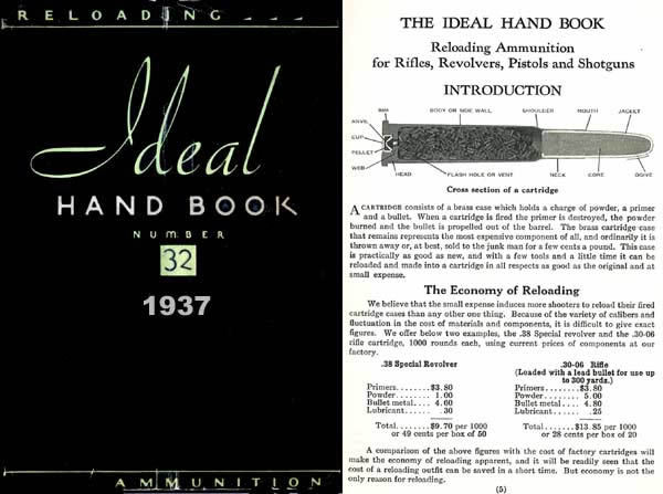 Ideal 1937 Hand Book No. 32, - Ammunition & Reloading