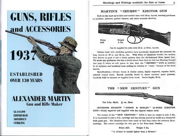 Alexander Martin 1937 Gun & Rifle Catalog (Scotland)