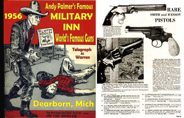 American Guns Quarterly 1956 3rd ed. Great Guns Famous Military Inn Magazine (Detroit) Andy Palmer