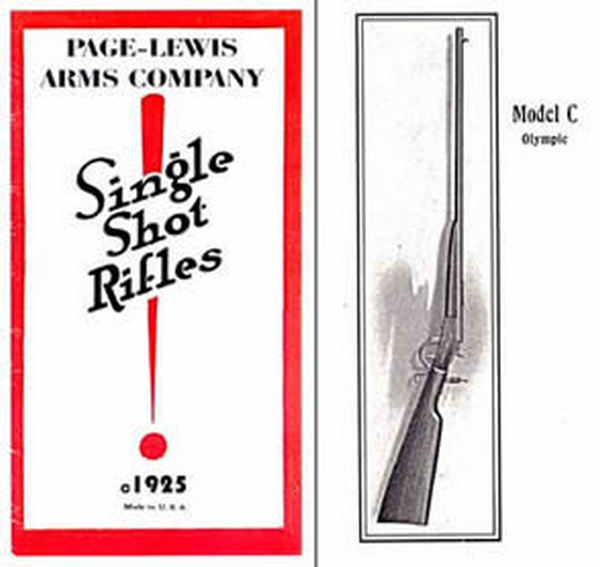 Page-Lewis c1925 Single Shot Rifles (eventually bought by Savage)