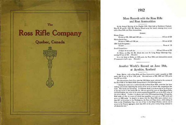 Ross 1913 Rifle Company Records