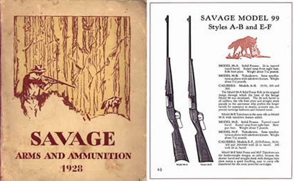 Savage 1928 Arms and Ammunition Catalog