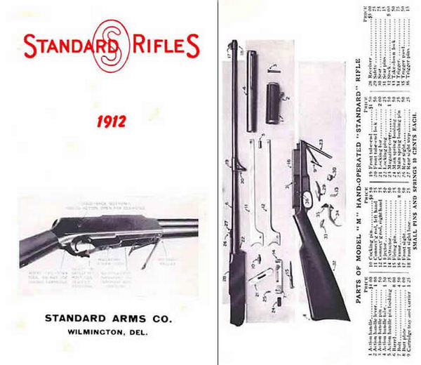 Standard Arms Company 1910 Rifles Catalog