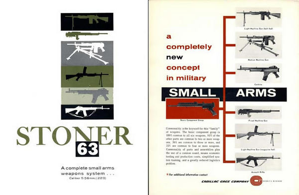 Stoner 1963 Military Small Arm - Machine Gun Catalog (M-16)