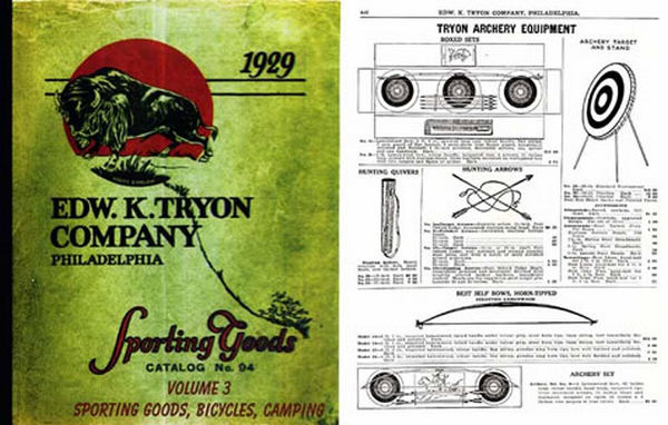Edw K Tryon Company Sporting Goods Catalog #94 1929 VOLUME III Camping, Sports, Bicycles, etc.